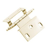 "Classic Brass - Hinge  - 3/8"" Offset Hinge in Antique Polished Silver"