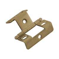 "Classic Brass - Hinge  - 3/4"" Full Wrap Hinge with Ball Finial in Antique Polished Silver"