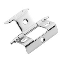 "Classic Brass - Hinge  - 3/4"" Full Wrap Hinge with Minarette Finial in Antique Polished Silver"
