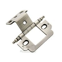"""Classic Brass - Hinge  - 3/4"""" Partial Wrap Hinge with Minarette Finial in Antique Polished Silver"""