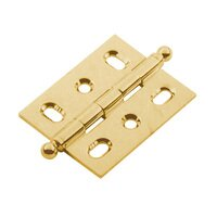Classic Brass - Hinge  - Mortise Hinge in Brass with Ball Finial in Antique Polished Silver