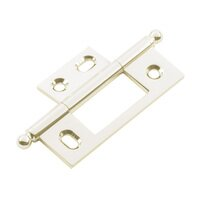 Classic Brass - Hinge  - Non-Mortise Hinge with Ball Finial in Antique Polished Silver