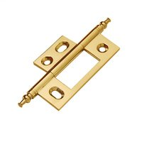 Classic Brass - Hinge  - Non-Mortise Hinge with Minarette Finial in Antique Polished Silver