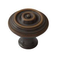 "Classic Brass - Chautauqua  - 1 1/4"" Diameter Double Rope Knob in Antique Brass"