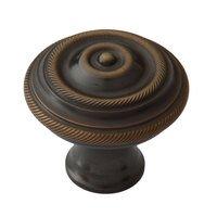 "Classic Brass - Chautauqua  - 1 1/2"" Diameter Double Rope Knob in Antique Brass"