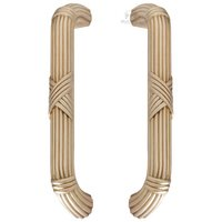 "Classic Brass - Oversized Pulls - 8"" Centers St. George Back To Back Pull in Antique Polished Silver"