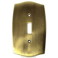 Colonial Bronze - Colonial - Colonial Single Toggle Switchplate in Antique Brass