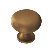 """Colonial Bronze - Antimicrobial Agion Knobs - 1 1/4"""" Knob in Satin Brass"""