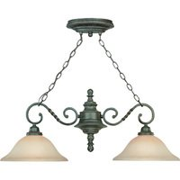 "Craftmade - Jeremiah Sutherland Lighting - 13"" Island Pendant Light in English Toffee with Faux Alabaster Glass"