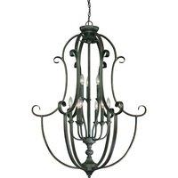 """Craftmade - Jeremiah Barrett Place Lighting - 32"""" Foyer Chandelier in Mocha Bronze"""