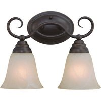 Craftmade - Jeremiah Cordova Lighting - Double Bath Light in Old Bronze with Faux Alabaster Glass
