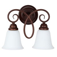 Craftmade - Jeremiah Cordova Lighting - 2 Light Wall Sconce in Oiled Bronze with White Frosted Glass