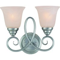 Craftmade - Jeremiah Cordova Lighting - Double Bath Light in Satin Nickel with Faux Alabaster Glass