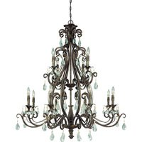 "Craftmade - Jeremiah Englewood Lighting - 40"" Chandelier in French Roast"