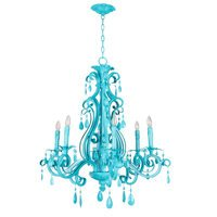 Craftmade - Jeremiah Englewood Lighting - 6 Light Chandelier in Turquoise