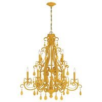 Craftmade - Jeremiah Englewood Lighting - 9 Light Chandelier in Tourmaline Yellow