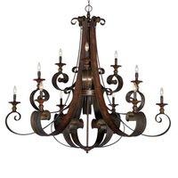 "Craftmade - Jeremiah Seville Lighting - 54"" Chandelier in Spanish Bronze"