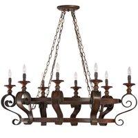"Craftmade - Jeremiah Seville Lighting - 31"" Chandelier in Spanish Bronze"