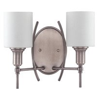 Craftmade - Jeremiah Meridian Lighting Collection - Double Wall Sconce in Antique Nickel