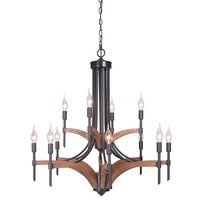 Craftmade - Tahoe - 12 Light Chandelier in Espresso / Whiskey Barrel