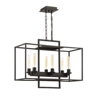 Craftmade - Cubic - 6 Light Linear Chandelier in Aged Bronze Brushed