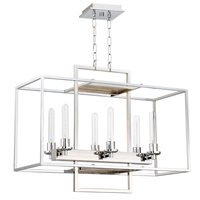 Craftmade - Cubic - 6 Light Linear Chandelier in Chrome