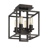 Craftmade - Cubic - 4 Light Semi Flush in Aged Bronze Brushed
