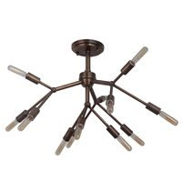 Craftmade - Aspen - 12 Light Semi Flush in Patina Aged Brass
