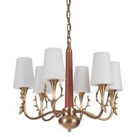 Craftmade - Churchill - 6 Light Chandelier in Vintage Brass
