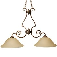 "Craftmade - Jeremiah Cecilia Lighting - 36"" Pendant Light in Peruvian with Amber Frost Glass"
