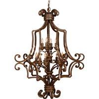 "Craftmade - Jeremiah Riata Lighting - 39"" Chandelier in Aged Bronze"