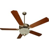 "Craftmade - Unipack Ceiling Fan - 52"" CD Ceiling Fan in Brushed Nickel with Contractor Blades in Dark Oak and Light Kit"