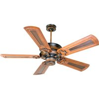 "Craftmade - Woodward Ceiling Fan - 56"" Ceiling Fan in Dark Coffee with Vintage Madera with Custom Carved Blades in Oak/Walnut"