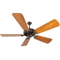 "Craftmade - American Tradition Ceiling Fan - 54"" Ceiling Fan in Aged Bronze with Premier Blades in Distressed Teak"