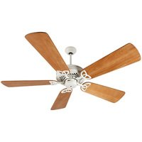 "Craftmade - American Tradition Ceiling Fan - 54"" Ceiling Fan in Antique White with Premier Blades in Distressed Oak"