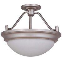 Craftmade - Flush and Semi Flush Lights Lighting - Pro Builder Premium 2 Light Semi Flush in Brushed Satin Nickel