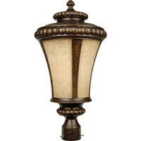 "Craftmade - Exterior Prescott Lighting - 12"" Exterior Post Light in Peruvian Bronze with Antique Scavo Glass"