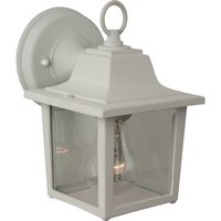 "Craftmade - Exterior Coach Light Lighting - 5 1/4"" Exterior Wall Light in Matte White with Clear Glass"