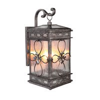 Craftmade - Exteriors Edinburgh Lighting - 2 Light Small Wall Mount in Dark Granite