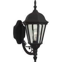 "Craftmade - Exterior Straight Glass Lighting - 8"" Exterior Wall Light in Matte Black with Clear Beveled Glass"