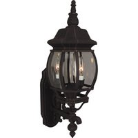 """Craftmade - Exterior French Style Lighting - 8"""" Exterior Wall Light in Rust with Clear Beveled Glass"""