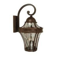 Craftmade - Exterior Parish Lighting - Parish 1 Light Small Wall Mount in Aged Bronze with Clear Hammered Glass