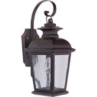 Craftmade - Exteriors Branbury Exterior Lighting - Small Exterior Wall Mount in Oiled Bronze and Water Glass