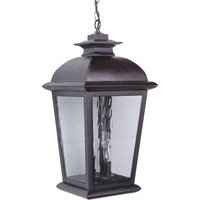 Craftmade - Exteriors Branbury Exterior Lighting - Large Exterior Pendant in Oiled Bronze and Water Glass