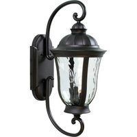 "Craftmade - Exterior Frances Lighting - 12"" Exterior Wall Light in Oiled Bronze with Hammered Clear Glass"