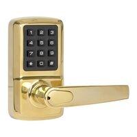 Delaney Hardware - SK500 Digital Lock - Entry SK500 Digital Lock with Left Handed Milton Lever in Oil Rubbed Bronze