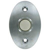 Deltana Hardware - Solid Brass Door Bells - Solid Brass Standard Bell Button in Brushed Chrome