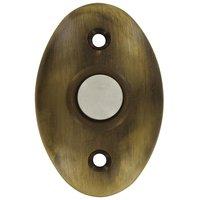 Deltana Hardware - Solid Brass Door Bells - Solid Brass Standard Bell Button in Antique Brass