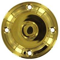Deltana Hardware - Solid Brass Door Bells - Solid Brass Round Contemporary Bell Button in PVD Brass