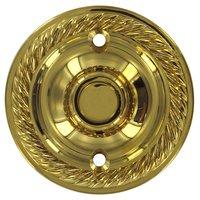Deltana Hardware - Solid Brass Door Bells - Solid Brass Round Rope Bell Button in PVD Brass
